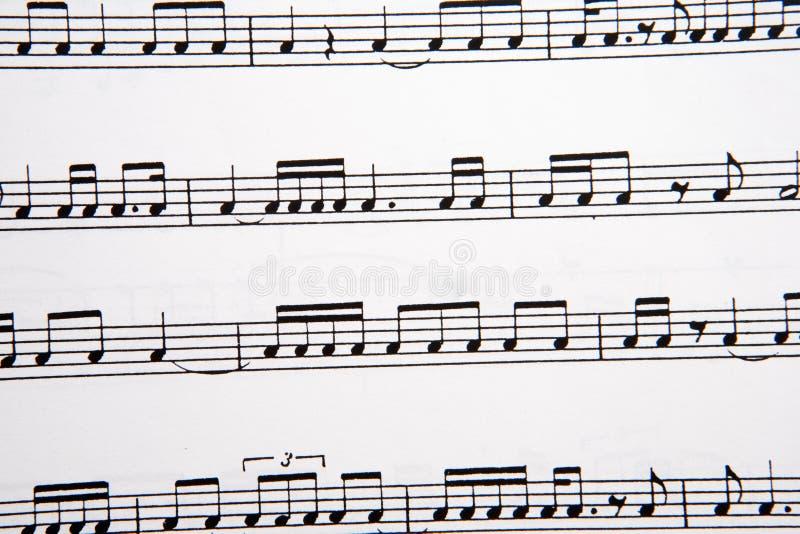 musikalen bemärker bilden royaltyfria foton