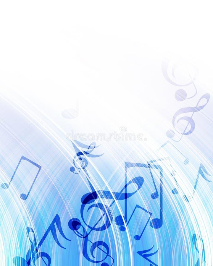 Musikalen noterar royaltyfri illustrationer