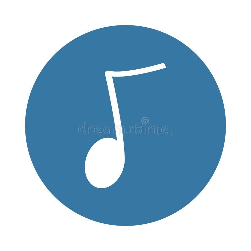 Musikalen noterar Beståndsdel av rengöringsduksymbolen i emblemstil stock illustrationer