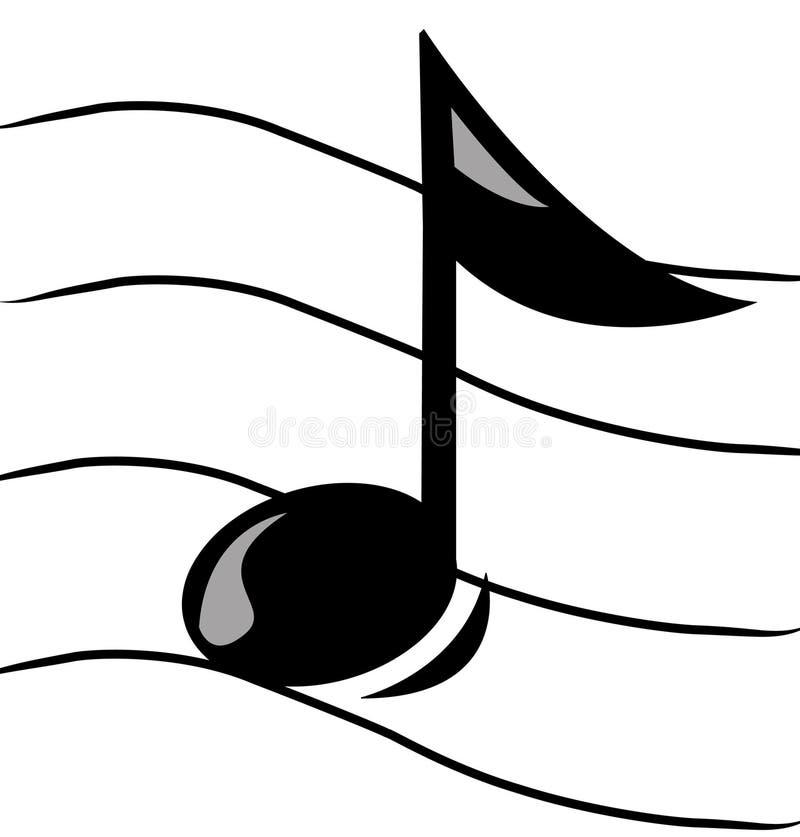 Musikalische Anmerkung stock abbildung