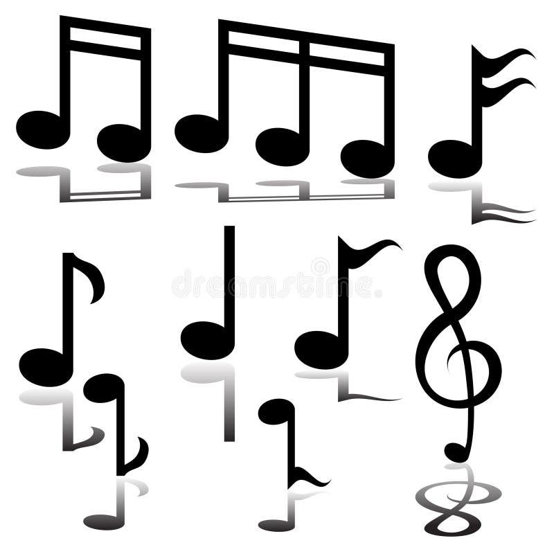 Musikalische Anmerkung vektor abbildung