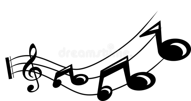 Musikalische Anmerkung Lizenzfreies Stockfoto