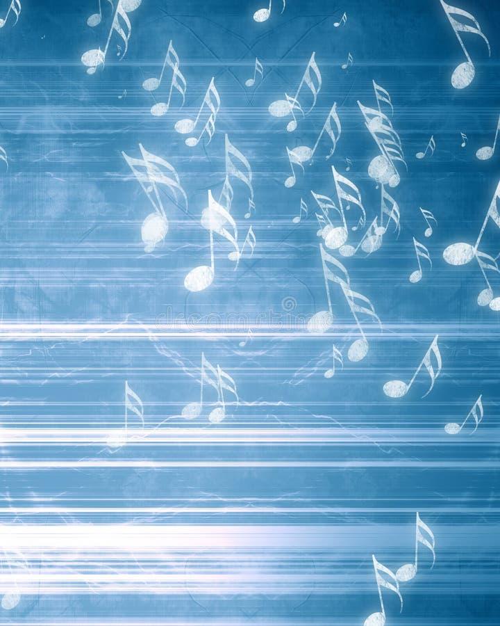 Musikalische Anmerkungen über Hintergrund stockfoto