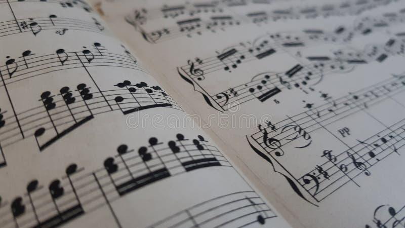Musikalische Anmerkungen stockbilder
