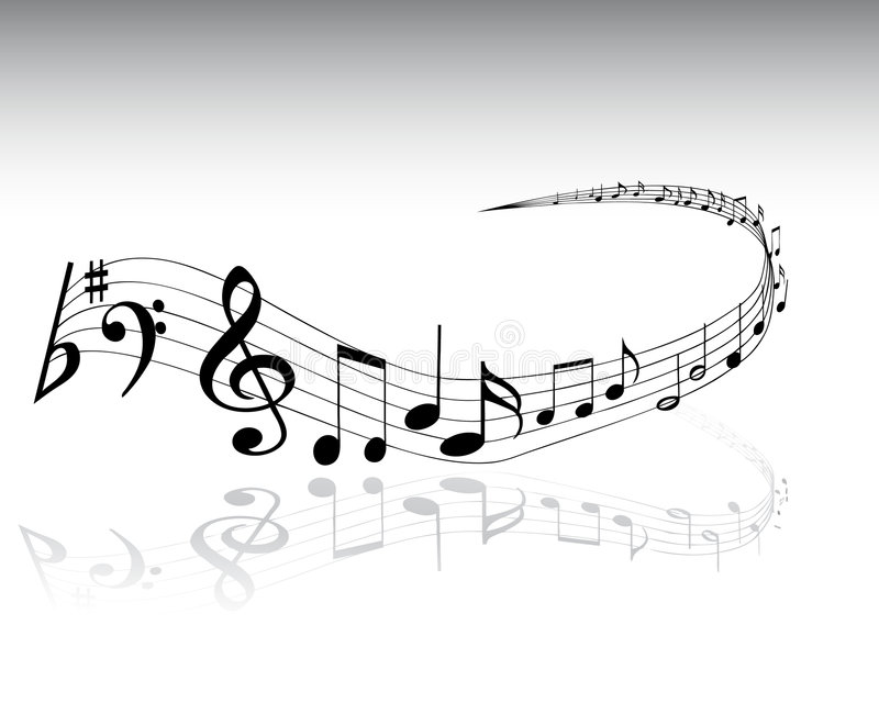 Musikalische Anmerkungen 4 vektor abbildung