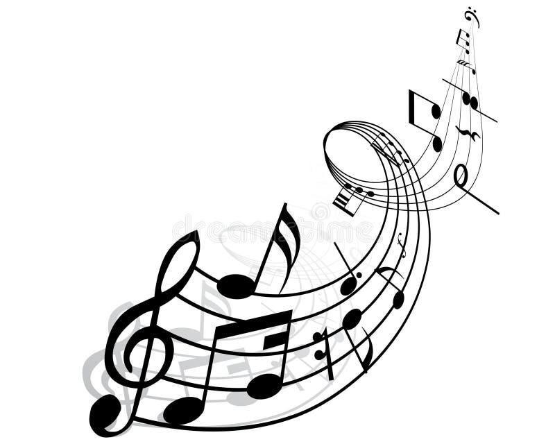 Musikalische Anmerkungen vektor abbildung