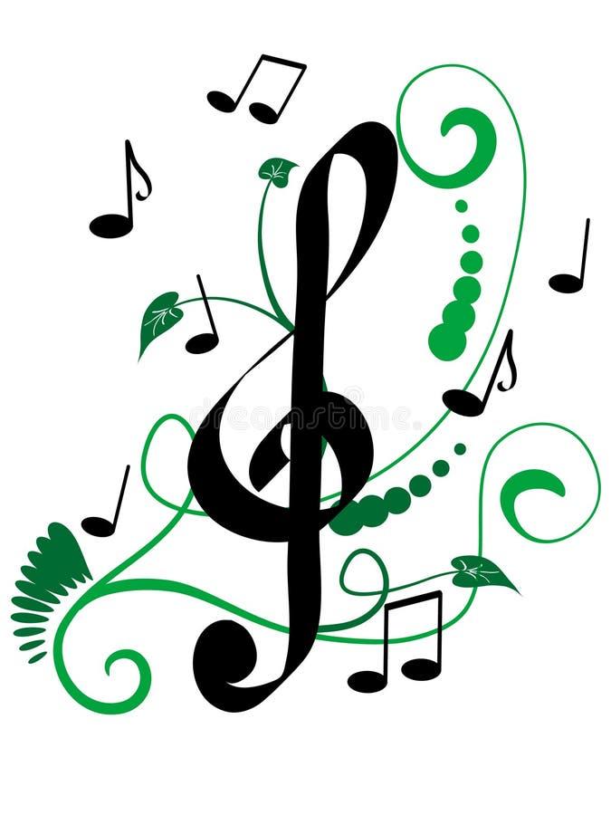 Musikalische Auslegung lizenzfreie abbildung
