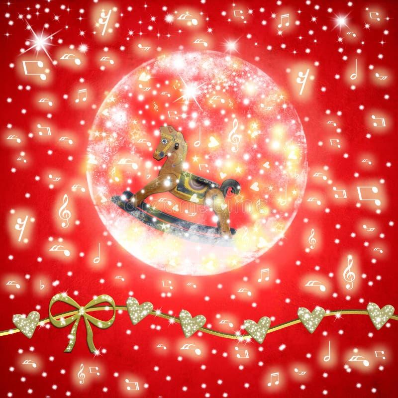 Musikalische Grußkarte der Weihnachtszeit lizenzfreie abbildung