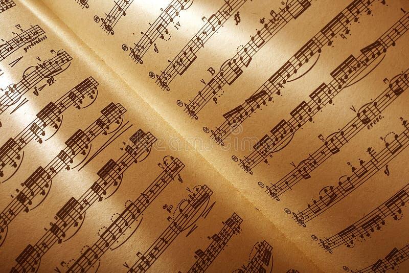 Musikalische Kerbe stockbild