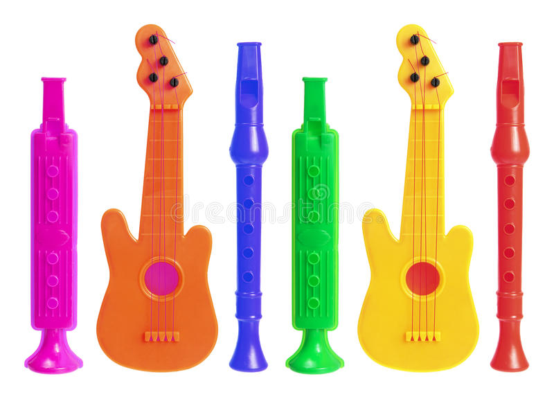 Musikalische Spielwaren stockbild