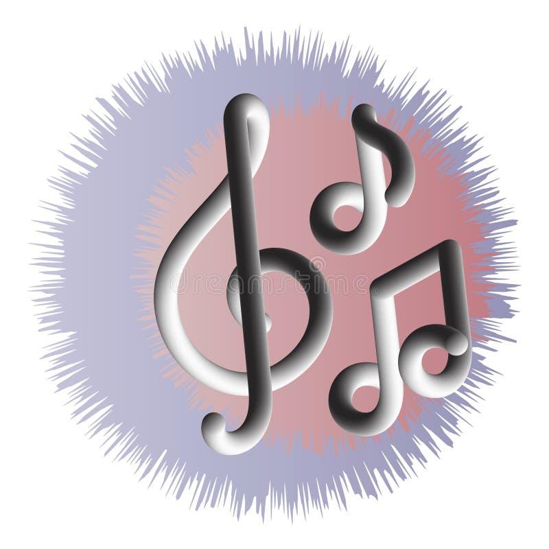 Musikalische Symbole, Anmerkungen, Handbeschriftung Auch im corel abgehobenen Betrag stock abbildung