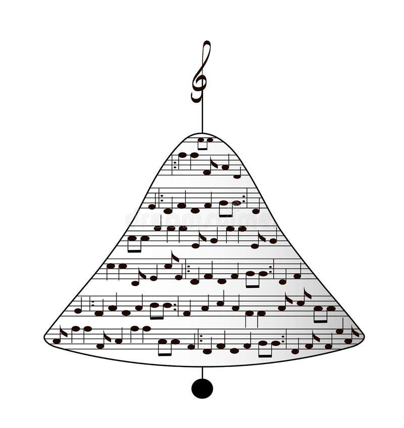 Musikalische Weihnachtsglocke lizenzfreie abbildung