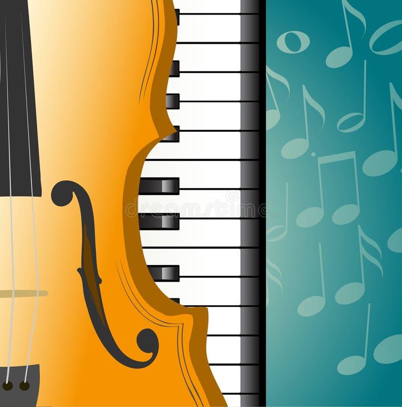 Musikalischer Hintergrund lizenzfreie abbildung