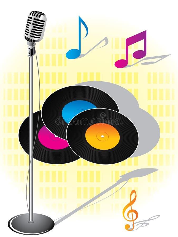 Musikalischer Hintergrund vektor abbildung