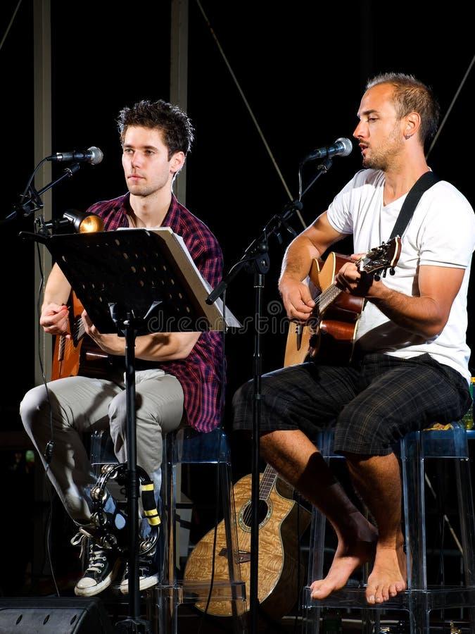 Musikalisches Duo stockfotografie