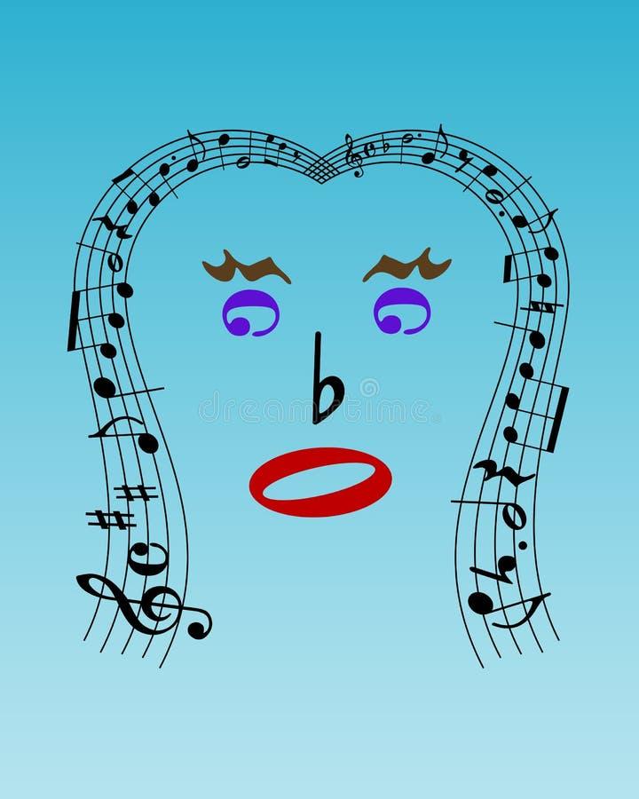 Musikalisches Gesicht vektor abbildung