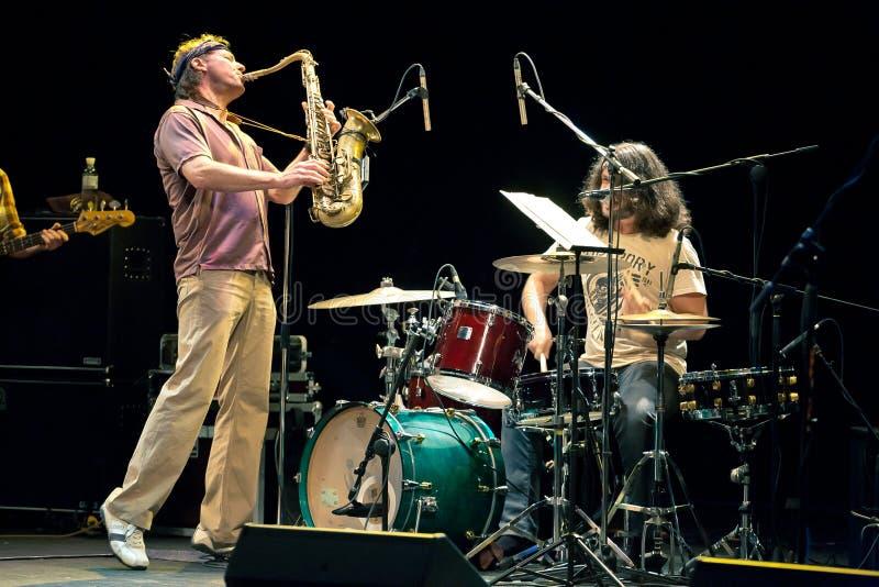 Musikalisches Projekt Bill Evans Soulgrass der Leistung lizenzfreies stockfoto