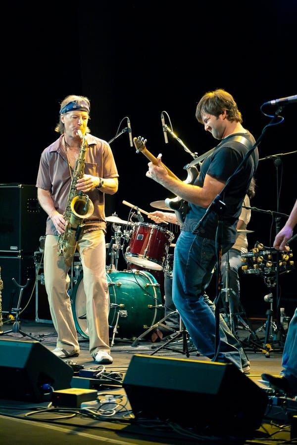Musikalisches Projekt Bill Evans Soulgrass der Leistung stockfoto