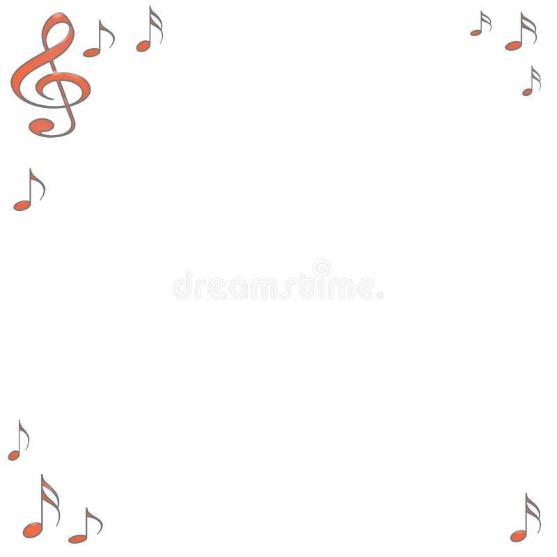 musikalisk anmärkning royaltyfri illustrationer