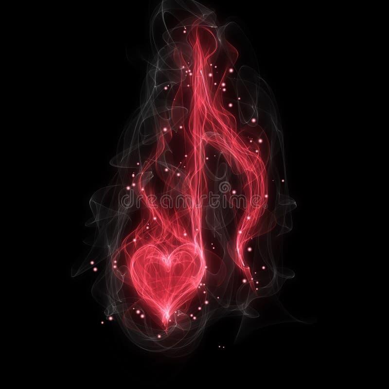 Musikalisk anmärkning för förälskelse vektor illustrationer
