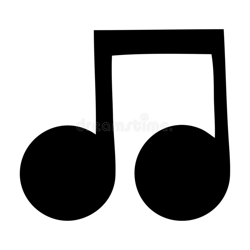 musikalisk anm?rkning f?r plant symbol royaltyfri illustrationer