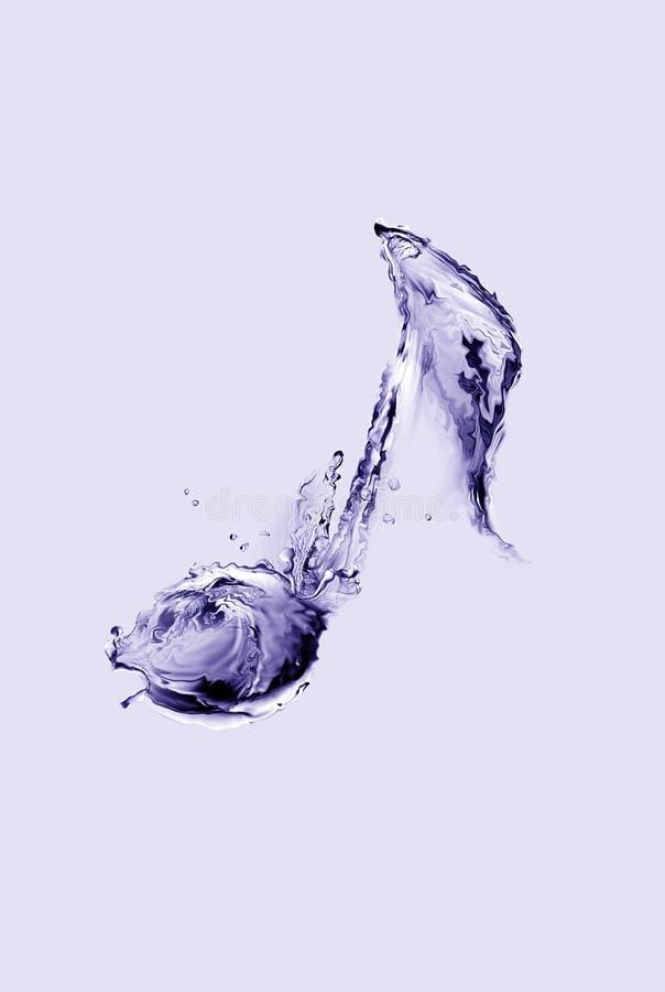 Musikalisk anmärkning för vatten arkivfoton