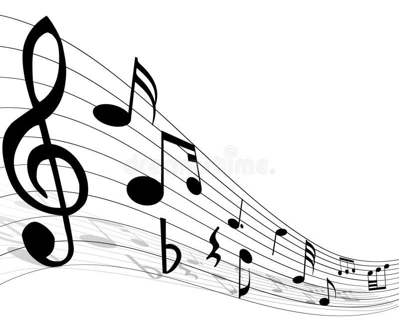 musikalisk anmärkningspersonal stock illustrationer