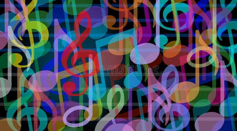 Musikalisk bakgrund stock illustrationer