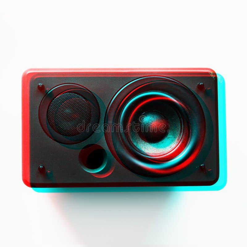 Musikalisk elektronisk ljudsignal bas för högtalarebashögtalare royaltyfria bilder
