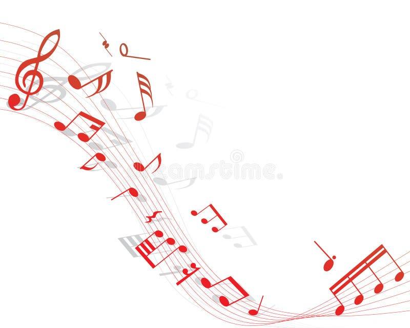 musikalisk personal vektor illustrationer