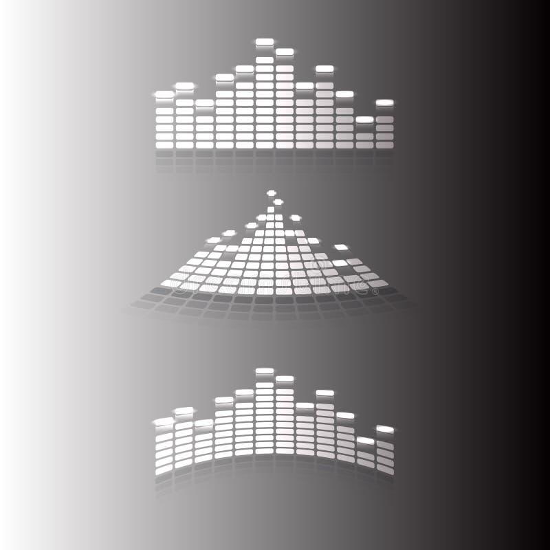 Musikalisk utjämnare vektor illustrationer