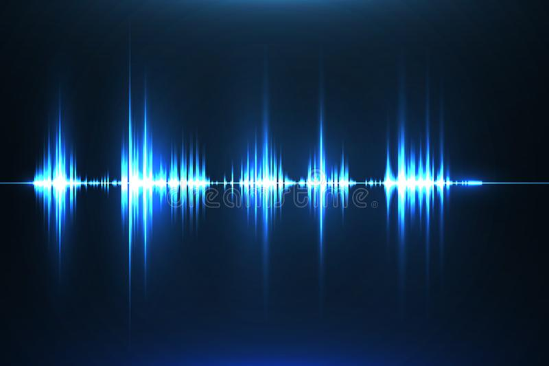 Musikalisk utjämnare Solid våg radio också vektor för coreldrawillustration royaltyfri illustrationer