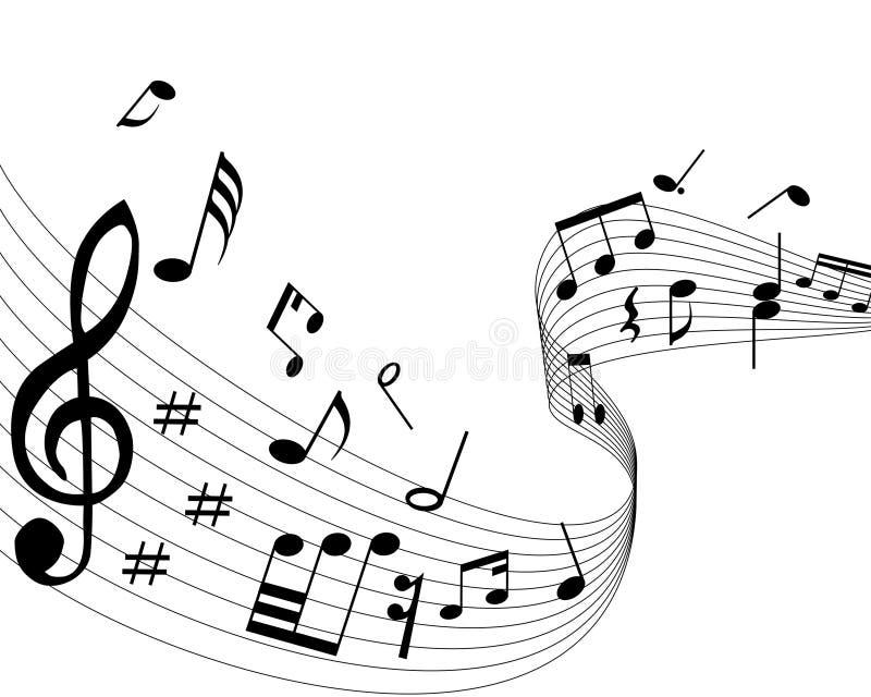 musikaliska anmärkningar stock illustrationer