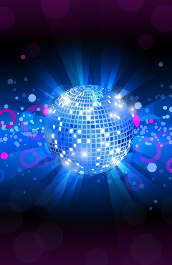 Musikaliska bakgrundsblått, reklamblad för dansparti, vektor royaltyfri illustrationer