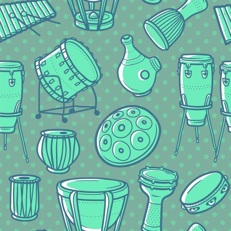 musikaliska instrument inställda valsar slagverk color vektorn för möjliga variants för modellen den olika vektor illustrationer