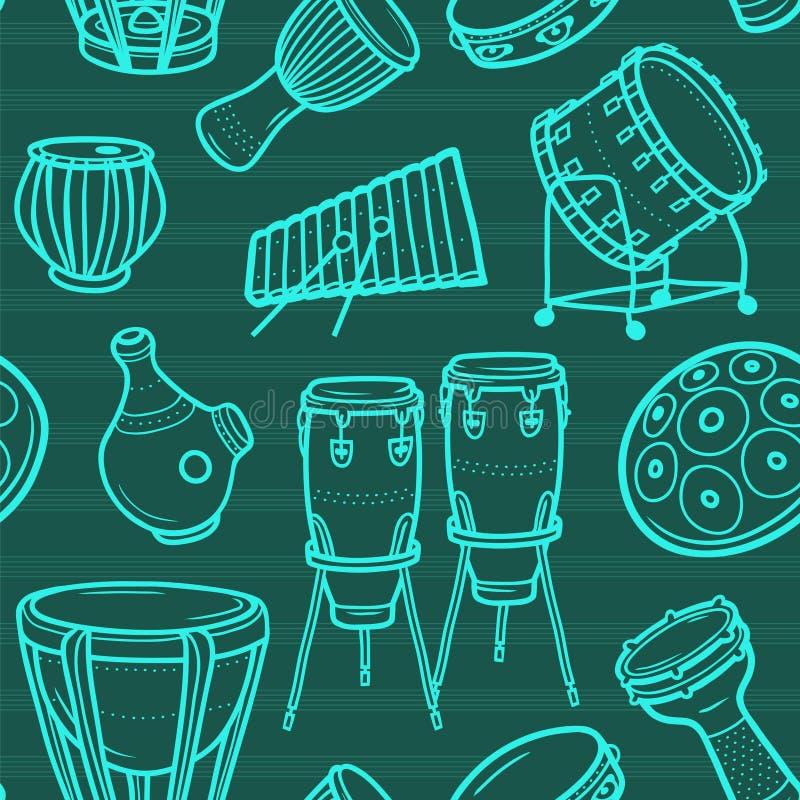 musikaliska instrument inställda valsar slagverk color vektorn för möjliga variants för modellen den olika royaltyfri illustrationer