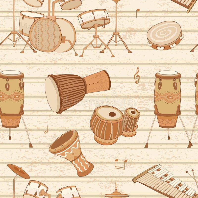 musikaliska instrument valsar slagverk vektor illustrationer