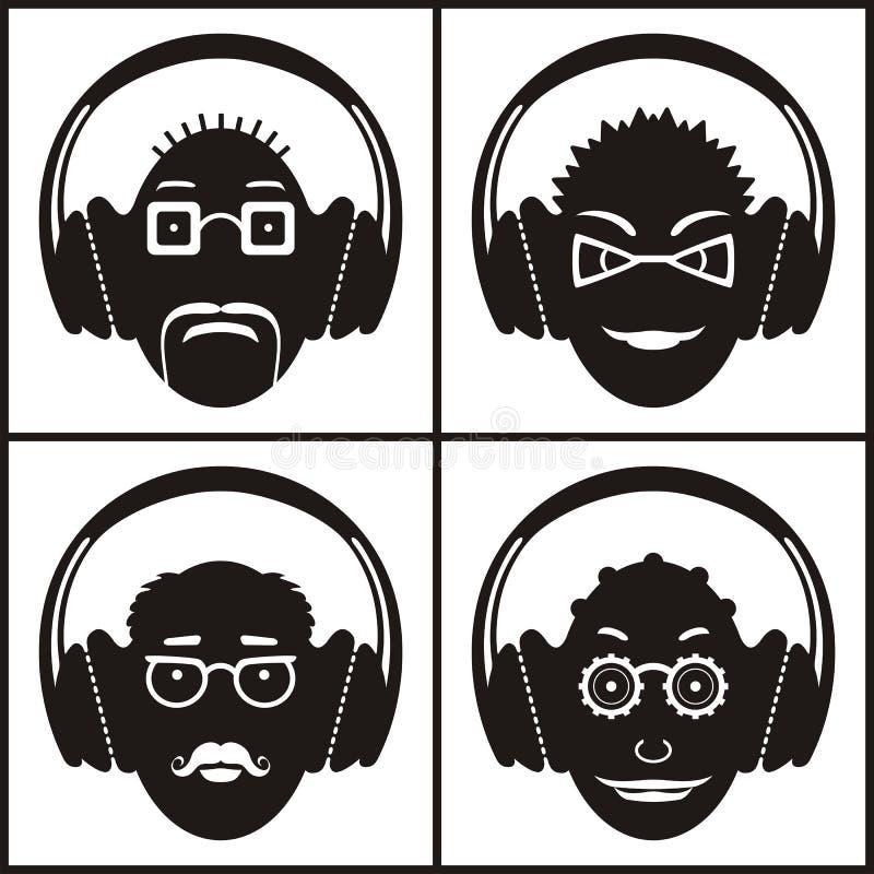 Musikaliska sinnesrörelser vektor illustrationer