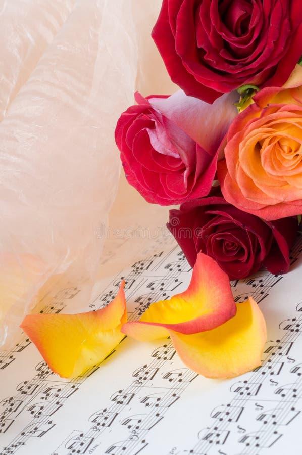 musikaliskt ark royaltyfri foto