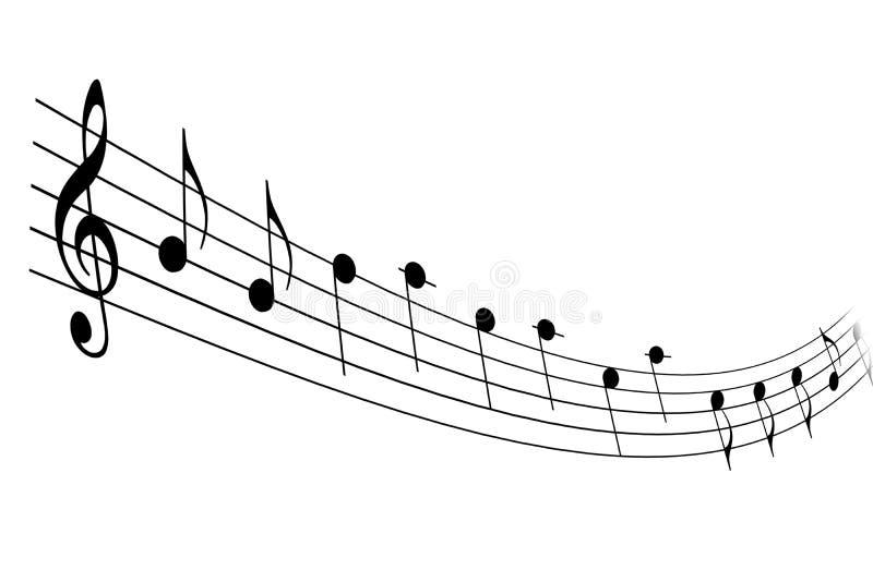 musikaliskt beteckningssystem royaltyfri illustrationer
