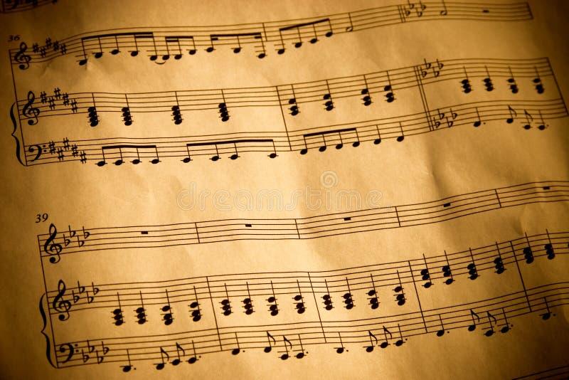 musikaliskt beteckningssystem arkivfoton
