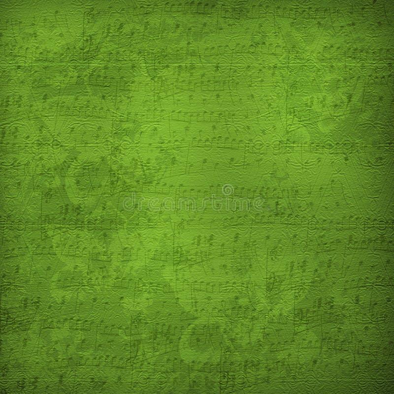 musikaliskt gammalt papper för alienerad design stock illustrationer