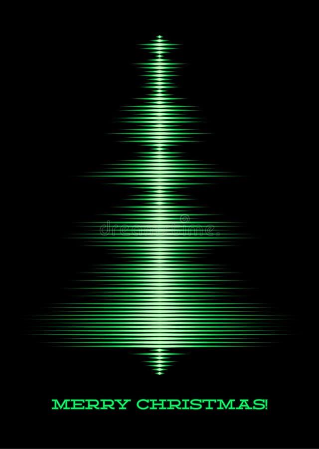 Musikaliskt jultreekort stock illustrationer