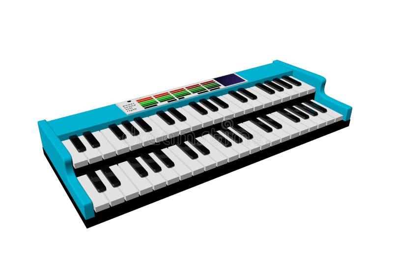 Musikaliskt tangentbord stock illustrationer