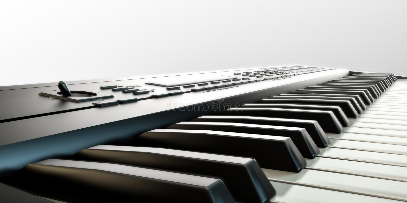 Musikaliskt tangentbord vektor illustrationer