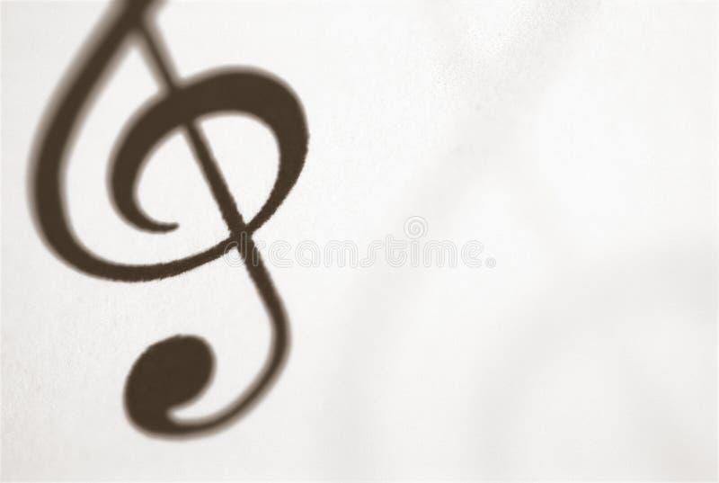 Musikalsymbol des dreifachen Clef stockfoto