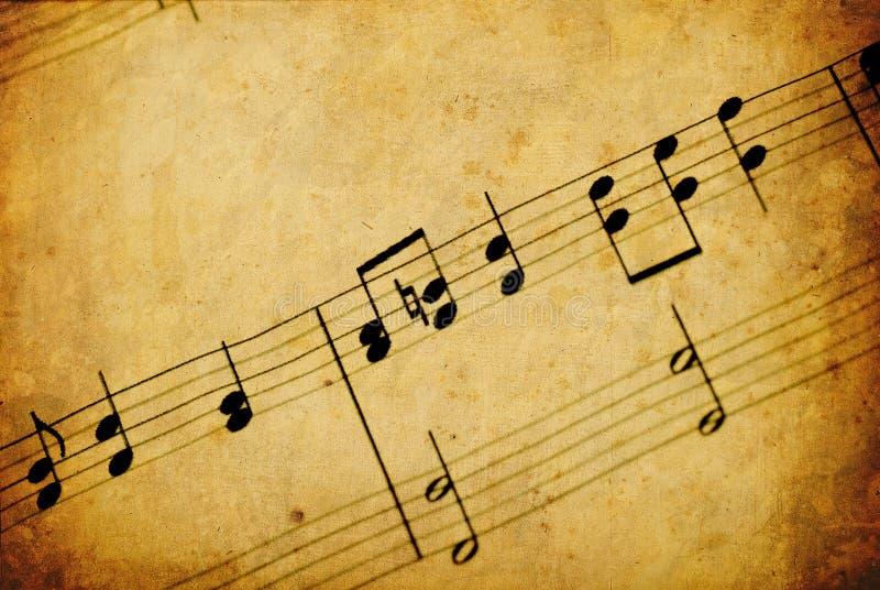musikanmärkning royaltyfria foton
