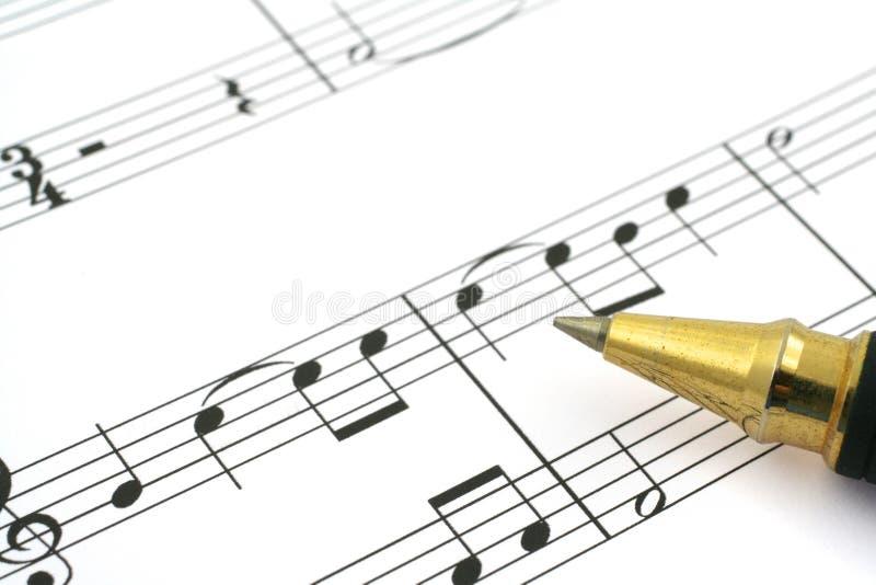 musikanmärkning arkivbilder