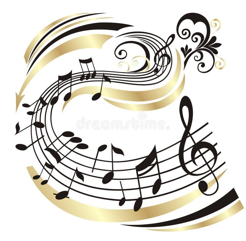 musikanmärkning stock illustrationer