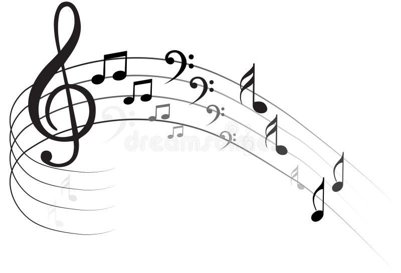 Musikanmärkning Backgraund stock illustrationer
